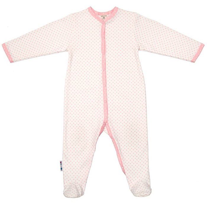 Комбинезон домашний детский Luky Child, цвет: молочный. А2-101/молочный. Размер 56/62А2-101/молочный