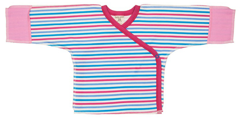 Распашонка детская Luky Child, цвет: розовый, молочный. А6-107. Размер 62/68
