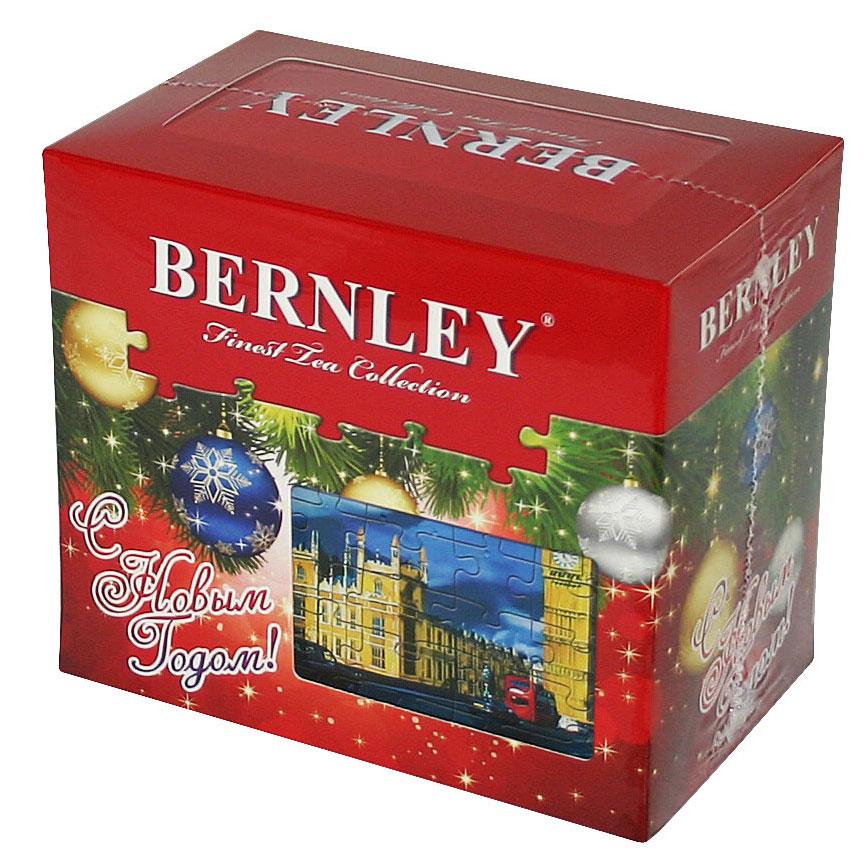 Bernley English Classic Новый год чай черный цейлонский крупнолистовой, 150 г1070120Крупнолистовой чай Bernley English Classic в подарочной упаковке с новогодним дизайном станет прекрасным подарком к новогодним праздникам. Этот чай с неповторимыми оттенками тонкого вкуса и нежного аромата производится по классическому английскому рецепту из лучших сортов черного цейлонского чая, выращенного на всемирно известных высокогорных плантациях Шри-Ланки.