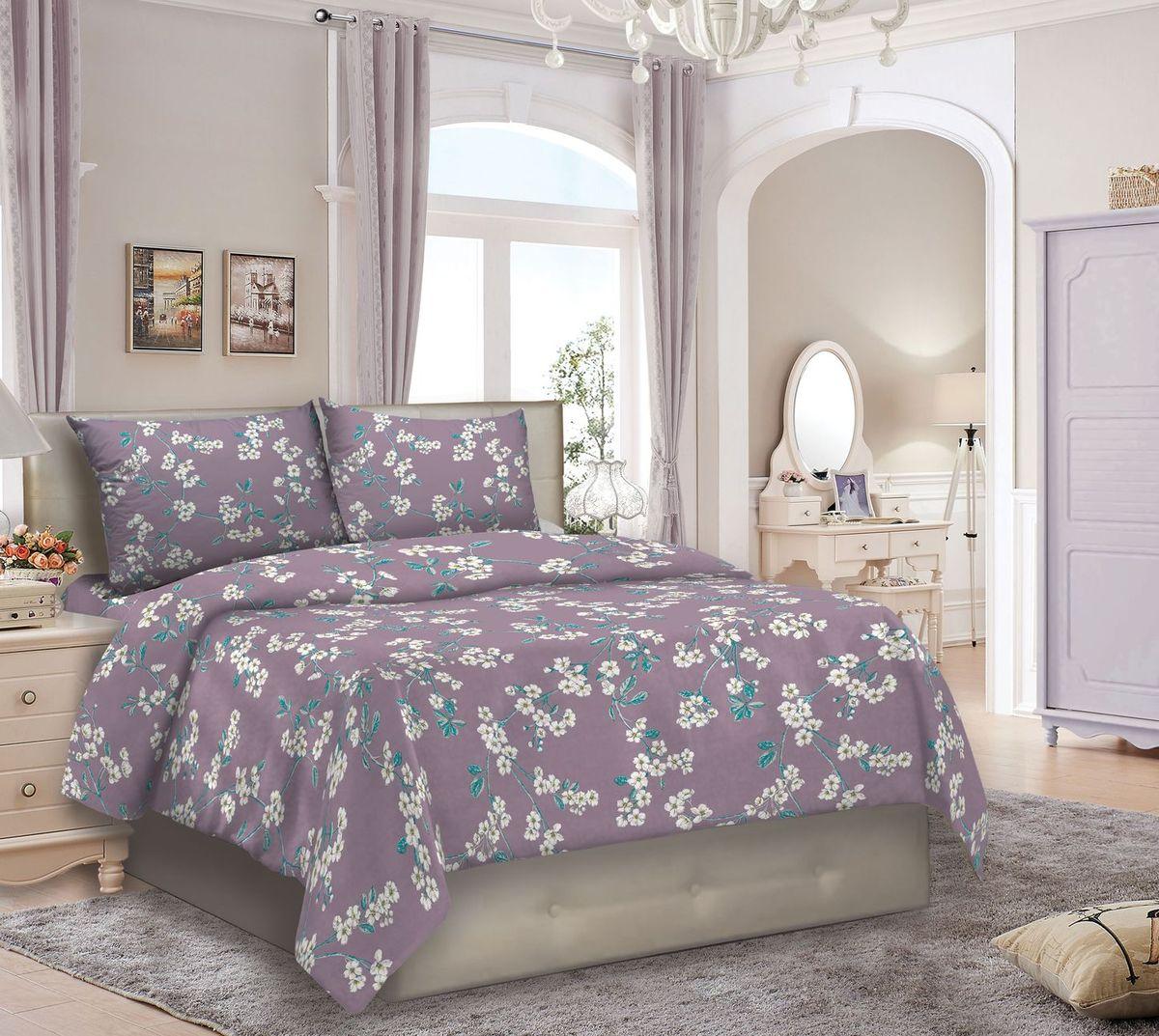 Комплект белья Seta Federico. Eneada, 1,5-спальный, наволочки 50х70015712265Бязевое белье выдерживает бесконечное число стирок, к тому же стоит сравнительно недорого. Лучшее соотношение цены, качества ткани и современных дизайнов.