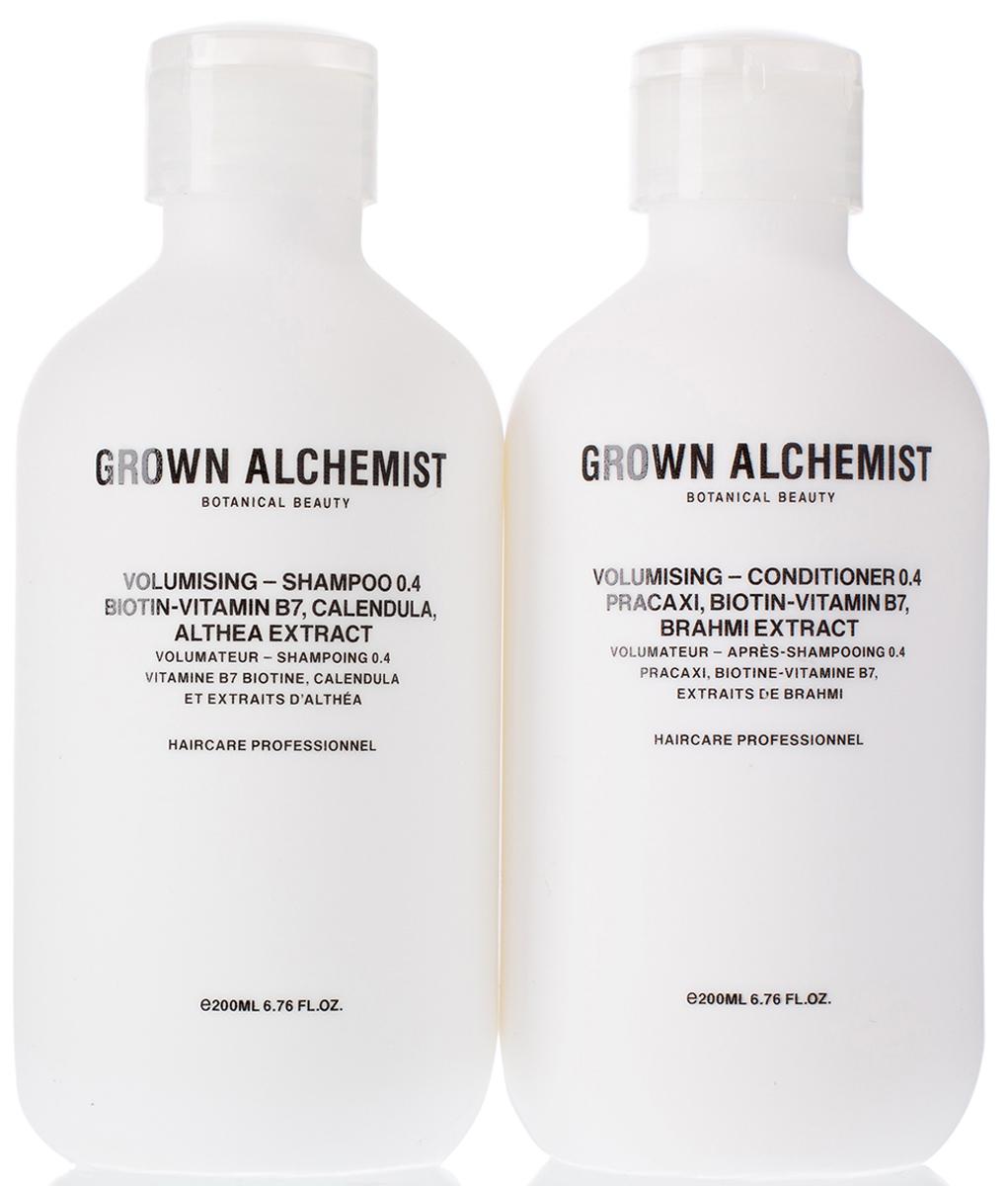 Grown Alchemist Набор для придания объема волосам (Шампунь для придания объема волосам 200 мл, Кондиционер для придания объема волосам 200 мл) shot спрей для придания объема 250 мл спрей для придания объема 250 мл 250 мл
