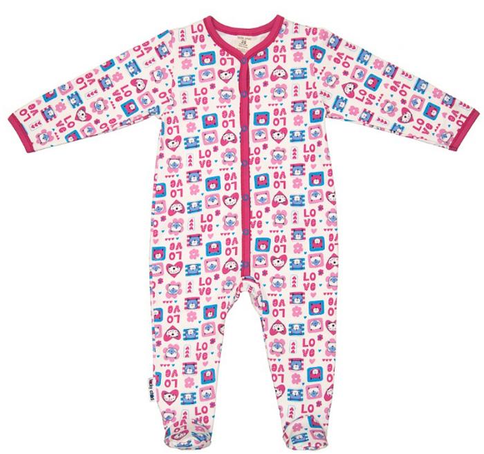 Комбинезон домашний детский Luky Child, цвет: розовый, молочный. А6-103/цв. Размер 56/62А6-103/цвДетский комбинезон Lucky Child - очень удобный и практичный вид одежды для малышей. Комбинезон выполнен из натурального хлопка, благодаря чему он необычайно мягкий и приятный на ощупь, не раздражают нежную кожу ребенка и хорошо вентилируются, а эластичные швы приятны телу малыша и не препятствуют его движениям. Комбинезон с длинными рукавами и закрытыми ножками имеет застежки-кнопки, которые помогают легко переодеть младенца или сменить подгузник. С детским комбинезоном Lucky Child спинка и ножки вашего малыша всегда будут в тепле, он идеален для использования днем и незаменим ночью. Комбинезон полностью соответствует особенностям жизни младенца в ранний период, не стесняя и не ограничивая его в движениях!