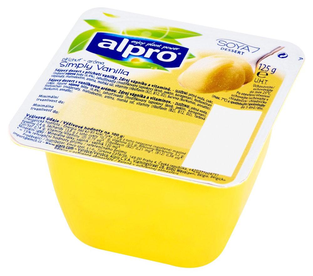 Alpro Ванильный соевый десерт, 125 г с пудовъ кисель молочный ванильный 40 г