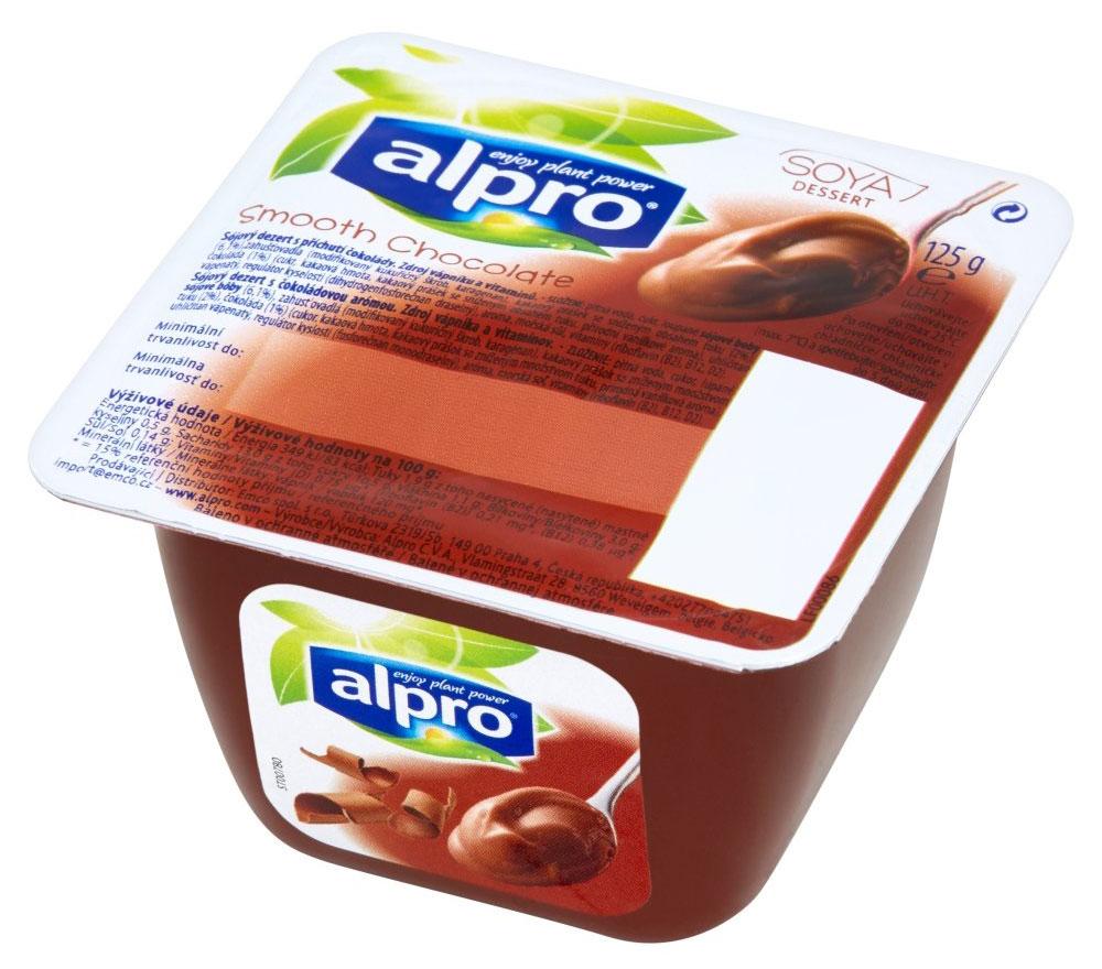 Alpro Шоколадный соевый десерт, 125 г коломпенское вафли шоколадный вкус 220 г
