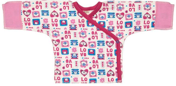Распашонка детская Luky Child, цвет: розовый, молочный. А6-107/цв. Размер 62/68 бальзам для мытья посуды зеленый чай frosch 0 5 л