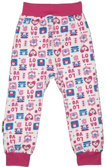 Штанишки для девочки Luky Child, цвет: розовый, молочный. А6-111/цв. Размер 80/86А6-111/цвУдобные штанишки Lucky Child на широком поясе послужат идеальным дополнением к гардеробу вашего малыша. Штанишки, изготовленные из натурального хлопка, необычайно мягкие и легкие, не раздражают нежную кожу ребенка и хорошо вентилируются, а эластичные швы приятны телу младенца и не препятствуют его движениям. Благодаря мягкому эластичному поясу изделие не сдавливает животик ребенка и не сползает, обеспечивая ему наибольший комфорт, идеально подходит для ношения с подгузником и без него. Снизу брючины дополнены широкими трикотажными манжетами, не пережимающими ножку. Они оформлены оригинальным принтом. Штанишки очень удобный и практичный вид одежды для малышей, которые уже немного подросли. Отлично сочетаются с футболками, кофточками и боди. В таких штанишках вашему малышу будет уютно и комфортно!
