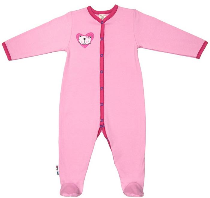 Комбинезон домашний детский Luky Child, цвет: розовый. А6-101/розовый. Размер 68/74А6-101/розовыйДетский комбинезон Lucky Child - очень удобный и практичный вид одежды для малышей. Комбинезон выполнен из натурального хлопка, благодаря чему он необычайно мягкий и приятный на ощупь, не раздражают нежную кожу ребенка и хорошо вентилируются, а эластичные швы приятны телу малыша и не препятствуют его движениям. Комбинезон с длинными рукавами и закрытыми ножками имеет застежки-кнопки, которые помогают легко переодеть младенца или сменить подгузник. С детским комбинезоном Lucky Child спинка и ножки вашего малыша всегда будут в тепле, он идеален для использования днем и незаменим ночью. Комбинезон полностью соответствует особенностям жизни младенца в ранний период, не стесняя и не ограничивая его в движениях!