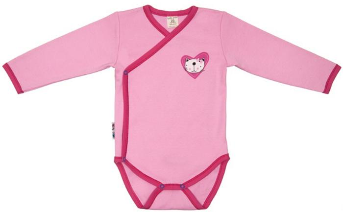 Боди детское Luky Child, цвет: розовый. А6-105/розовый. Размер 80/86 боди детское hudson baby hudson baby боди цыплёнок 3 шт бирюзово розовый