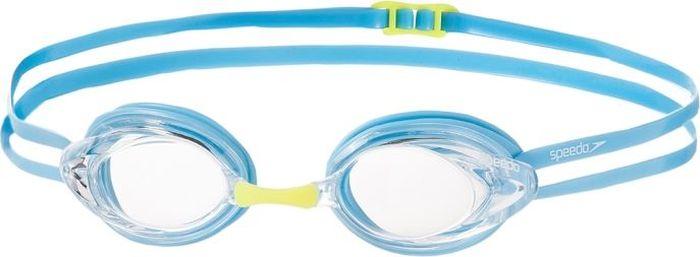 Очки для плавания детские Speedo Opal Optical Junior, цвет: голубой, с диоптриями -1,58-104403961_-1,5Детские стартовые очки с диоптриями Opal Optical Junior подойдут на возраст от 7 до 16 лет. Линзы рассчитаны на юных пловцов с близорукостью и имеют оптическую силу от -1.5 до -8.