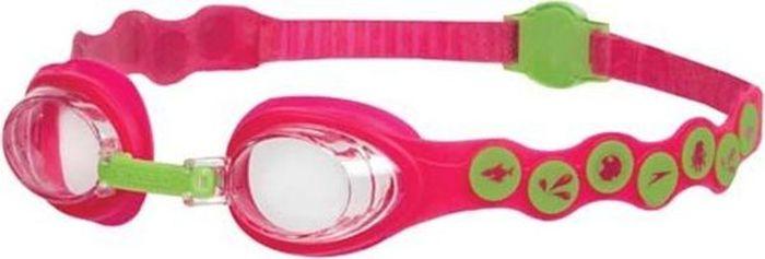Очки для плавания детские Speedo Sea Squad Goggle, цвет: розовый, зеленый8-083828028Очки для занятий детям от 2 до 6 лет. Служат для защиты детских глаз от солнечных лучей.Прозрачные линзы обеспечивают защиту и четкое видение без искажения цветов, а также незаменимы в условиях плохой освещенности.Одинарный ремешок с системой SpeedFIT для удобной и быстрой посадки, регулировка сзади.