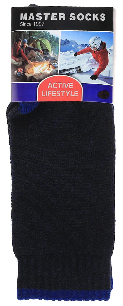 Носки мужские Master Socks Active Lifestyle, цвет: темно-синий. 88421. Размер 2588421Носки Master Socks Active Lifestyle изготовлены из полиакриловых нитей, натурального хлопка, полиамида и эластана, которые обеспечивают отличную посадку. Модель с удлиненным паголенком оснащена эластичной резинкой, которая плотно облегает ногу, не сдавливая ее, обеспечивает удобство.