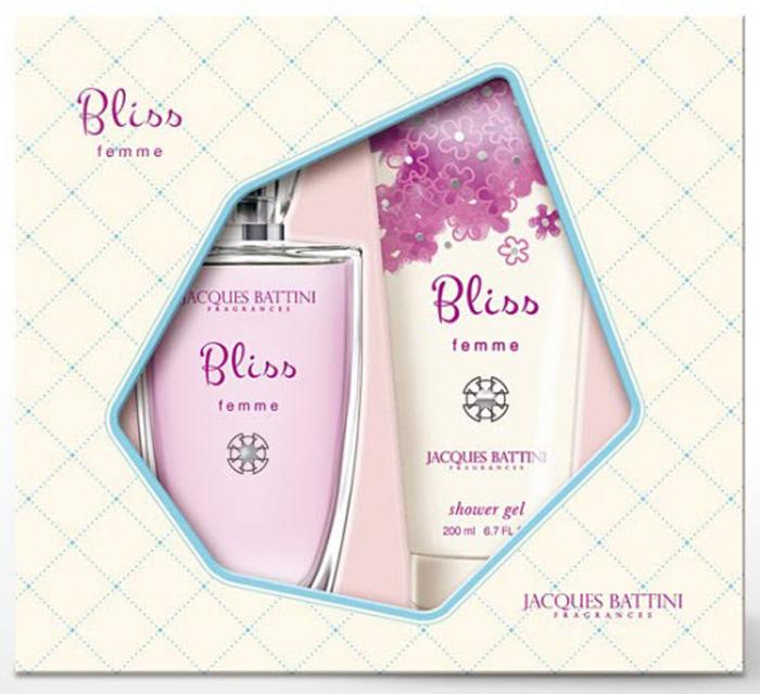 Jacgues Battini CosmeticsПодарочный Набор (Парфюмерная вода для женщин Bliss, 100 мл + гель для душа Bliss, 200 мл) Jacgues Battini Cosmetics