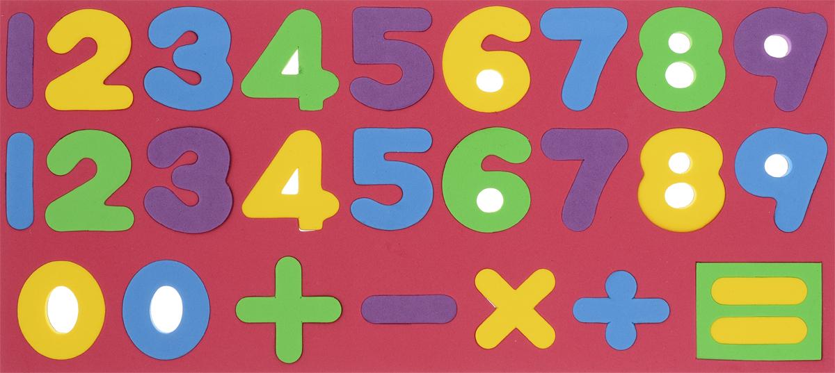 Kribly Boo Обучающая игра Набор магнитных цифр и знаков цвет красный kribly boo обучающая игра набор букв цвет фиолетовый