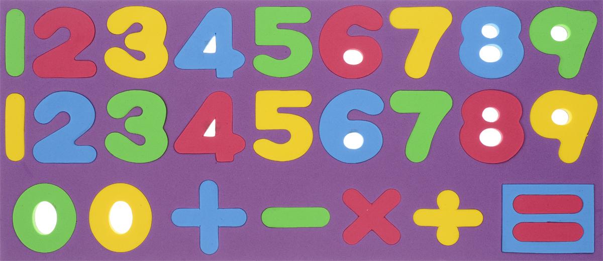 Kribly Boo Обучающая игра Набор магнитных цифр и знаков цвет фиолетовый kribly boo набордляраскрашивания