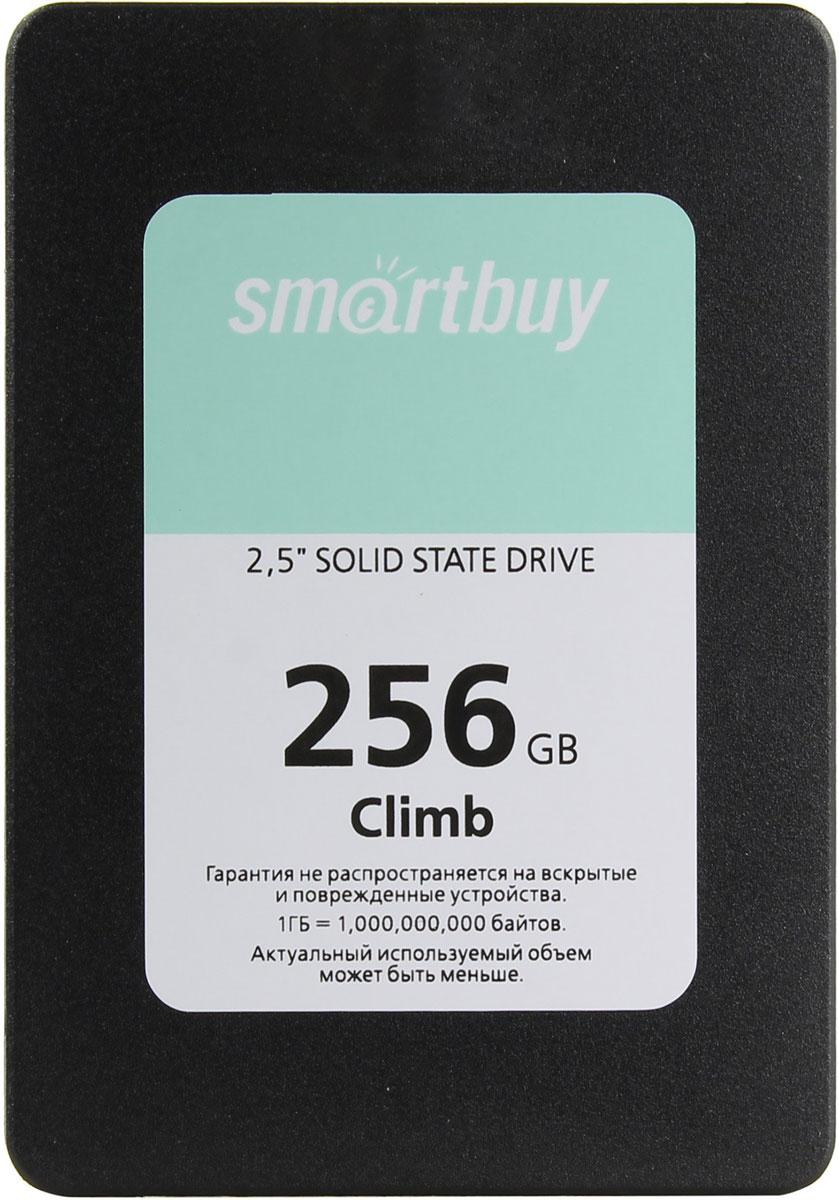 Smartbuy Climb 256GB SSD-накопитель (SB256GB-CLB-25SAT3)SB256GB-CLB-25SAT3Твердотельный накопитель SmartBuy Climb выполнен на базе контроллера Silicon Motion SM2258 и памяти 3D TLC NAND, имеет форм-фактор 2.5 и высоту всего 7 мм. SSD-накопитель не содержит подвижных механических частей, что гарантирует бесшумную работу и устойчивость к вибрациям. В качестве внешнего интерфейса используется SATA 6 Гбит/с.