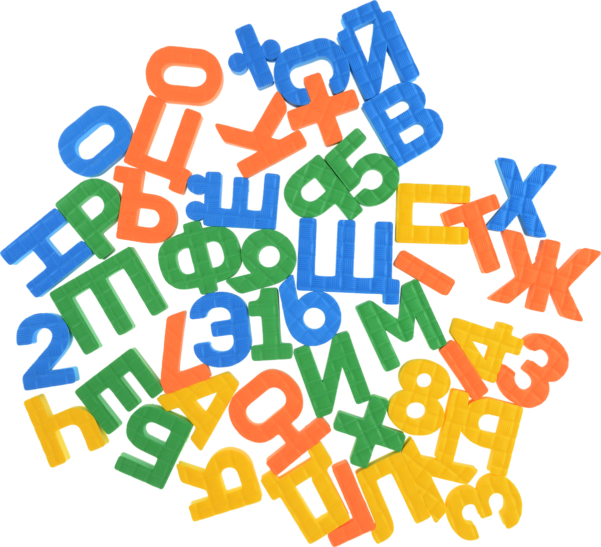 Pic'nMix Набор игрушек для ванной Буквы-цифры цвет желтый оранжевый зеленый веер касса fancy гласные буквы