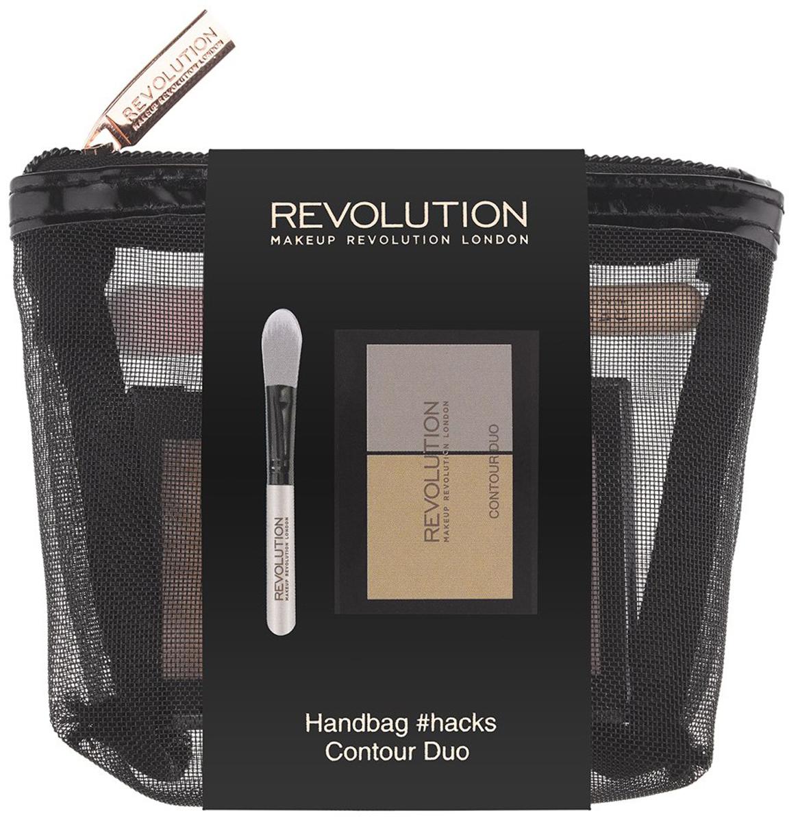 Makeup Revolution Набор для макияжа Handbag #hacks Contour Duo хайлайтеры makeup revolution хайлайтер radiant lights breathe