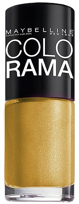 Maybelline New York Лак для ногтей Colorama, оттенок 108, Золотой песок, 7 млB2072503Самая широкая палитра оттенков новых лаков Колорама. Яркие модные цвета с подиума.Новая формула лака Колорама обеспечивает стойкое покрытие и создает еще более дерзкий, насыщенный цвет, который не тускнеет.Усовершенствованная кисточка для более удобного и ровного нанесения, современная упаковка.Лак для ногтей Колорама не содержит формальдегида, дибутилфталата и толуола.Как ухаживать за ногтями: советы эксперта. Статья OZON Гид