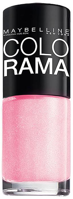Maybelline New York Лак для ногтей Colorama, оттенок 69, Розовое сияние, 7 млB2070503Самая широкая палитра оттенков новых лаков Колорама. Яркие модные цвета с подиума.Новая формула лака Колорама обеспечивает стойкое покрытие и создает еще более дерзкий, насыщенный цвет, который не тускнеет.Усовершенствованная кисточка для более удобного и ровного нанесения, современная упаковка.Лак для ногтей Колорама не содержит формальдегида, дибутилфталата и толуола.
