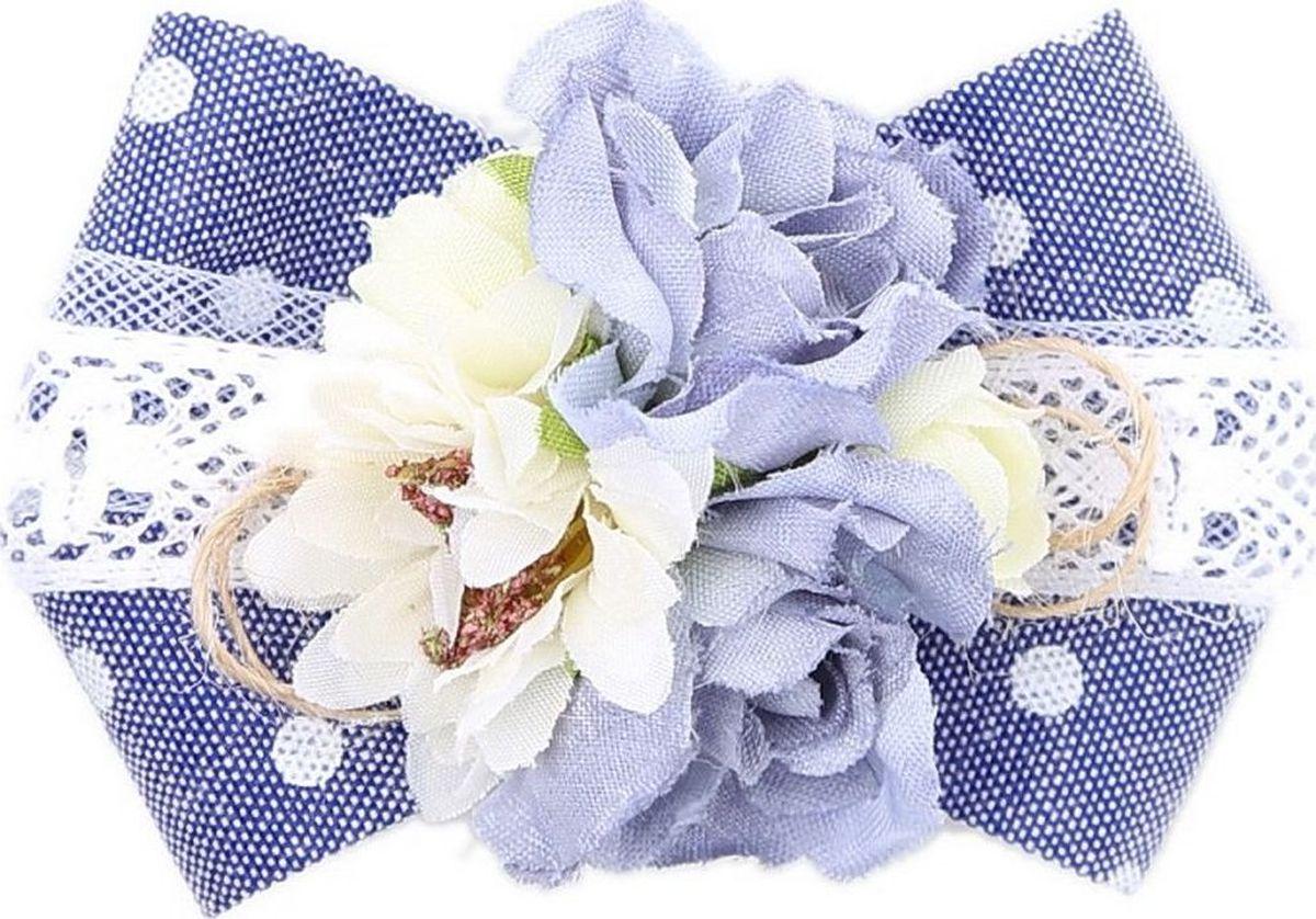 Заколка для волос Malina By Андерсен Индиго, цвет: голубой гребни bizon гребень диадема заколка
