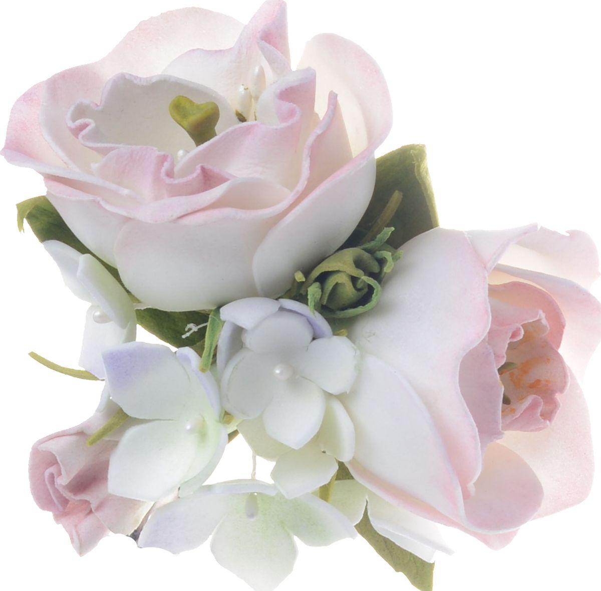 Резинка для волос Malina By Андерсен Гренни, цвет: розовый. 11712рб1011712рб10Резинка для волос Malina By Андерсен Гренни украшена объемными цветами из полимера нежно-розового цвета.Такая резинка для волос универсальна, она подойдет ко всем цветам волос и дополнит любой стильный образ.Коллекции аксессуаров Malina by Андерсен создаются российскими дизайнерами и являются изделиями ручной работы.