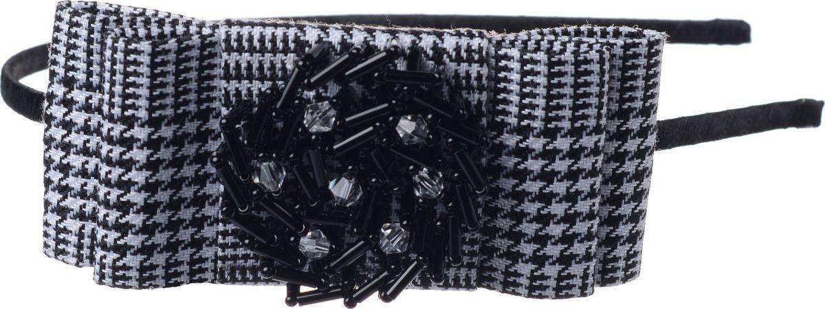 Ободок для волос Malina By Андерсен Монограмс, цвет: черный. 21706об0721706об07Ободок для волос поможет подчеркнуть вашу индивидуальность и стиль. С помощью ободка вы сможете уложить волосы в элегантную прическу.