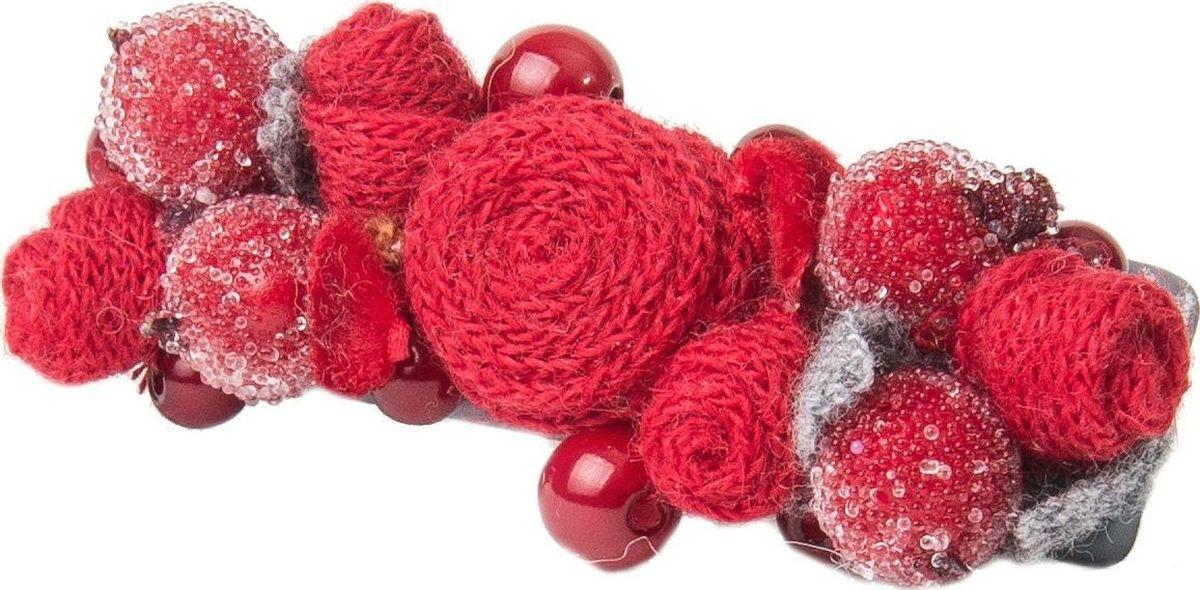 Заколка для волос Malina By Андерсен Клюква в сахаре, цвет: красный. 31603за5331603за53