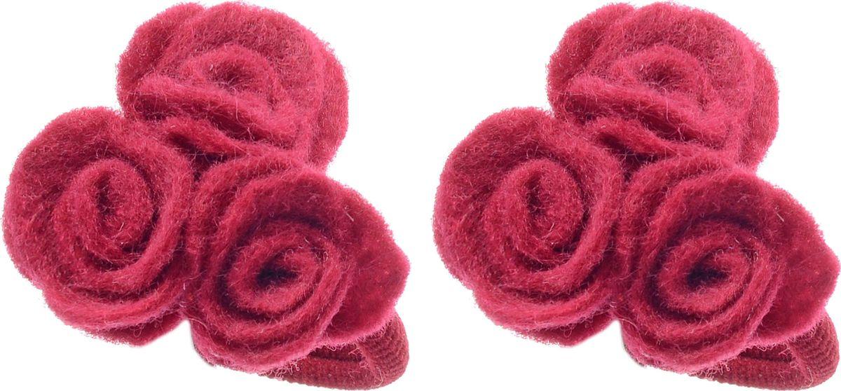 Резинка для волос Malina By Андерсен Шарли, цвет: бордовый, 2 шт. 31704рм54 резинки migura резинка 2 шт