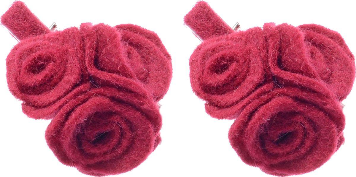 Заколка для волос Malina By Андерсен Шарли, цвет: бордовый, 2 шт. 31704тм54 гребни bizon гребень диадема заколка