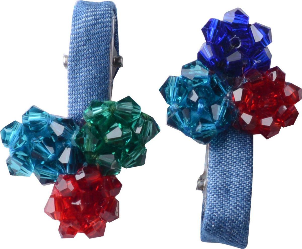 Заколка для волос Malina By Андерсен Арабеск, цвет: голубой, 2 шт гребни bizon гребень диадема заколка