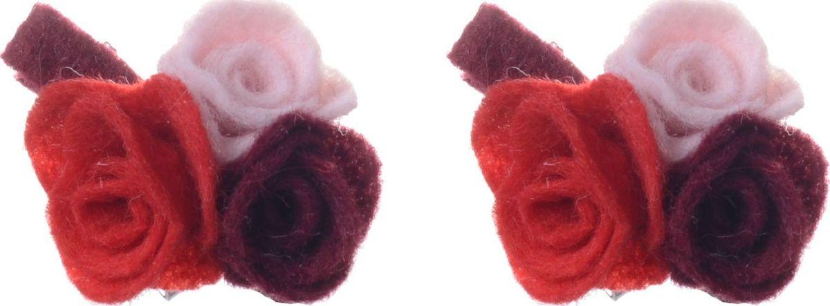 Заколка для волос Malina By Андерсен Мелтон, цвет: красный, 2 шт. 31707тм53 гребни bizon гребень диадема заколка