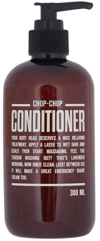 Chop-Chop Кондиционер для волос, 300 мл31084Средство для дополнительного ухода – бальзам, смягчающий волосы и созданный, чтобы работать в паре с шампунем Chop-Chop. Обладает легким освежающим эффектом. Объем: 300 мл.