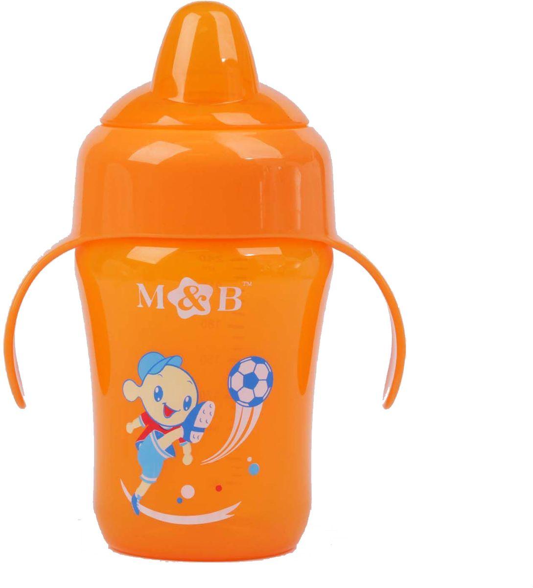 Mum&Baby Поильник с мягким носиком цвет: оранжевый, 240 мл -  Поильники