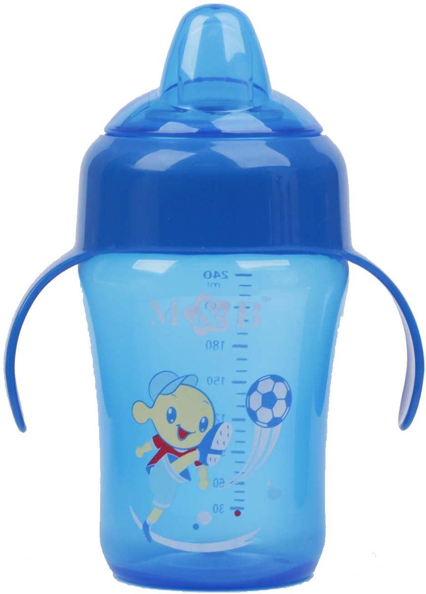 Mum&Baby Поильник с мягким носиком цвет синий 240 мл