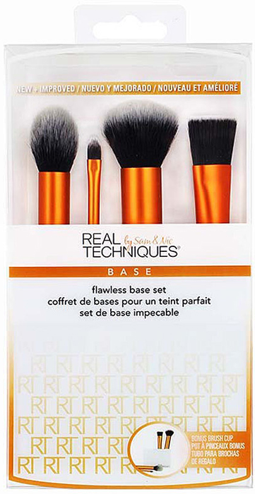 Real Techniques Набор для макияжа Flawless Base Set кисть для лица real techniques mini contour brush