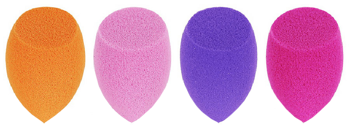 Real Techniques Набор из 4 мини спонжей 4 Miracle Mini Complexion Sponges vs набор треугольных спонжей для макияжа 4 шт triangular makeup sponges set kit de eponges de maquillage triangulaires