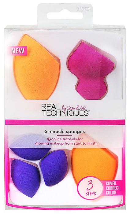Real Techniques Набор спонжей 6 Miracle sponges