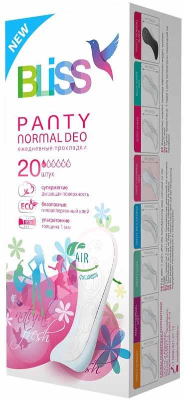 Bliss Ежедневные гигиенические прокладки Panty Normal Deo, 20 шт. 13141314