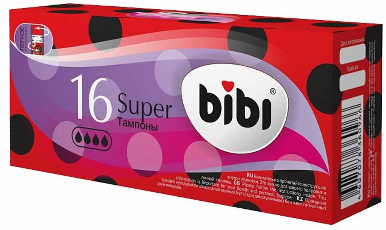 BiBi Тампоны гигиенические Super, 16 шт o b тампоны compact applicator normal 16 шт