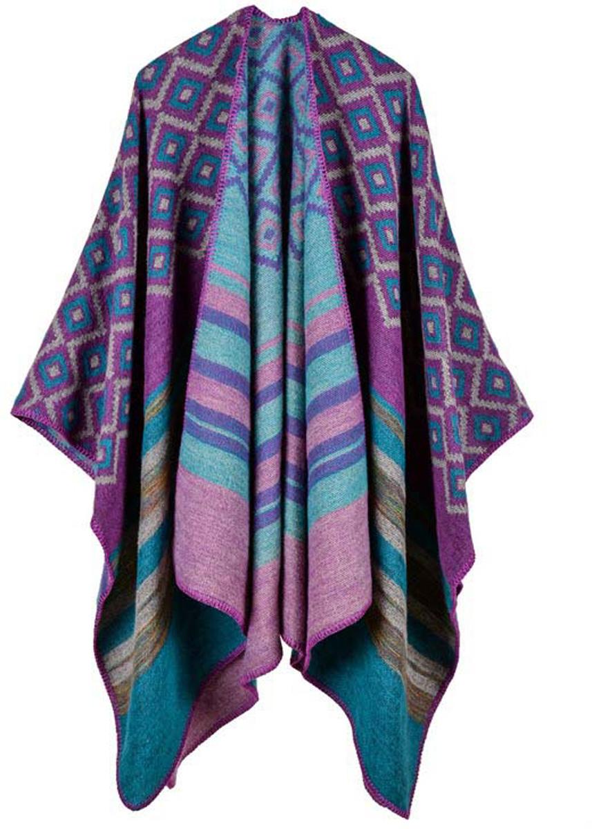 Пончо женское Bradex Фуксия, цвет: фуксия, розовый. AS 0284. Размер 150 х 130 см runail дизайн для ногтей ракушки 0284