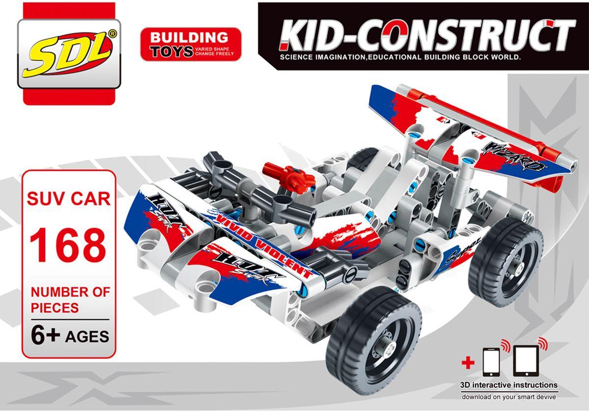 Фото SDL Пластиковый конструктор Kid-Construct Кроссовер цвет белый