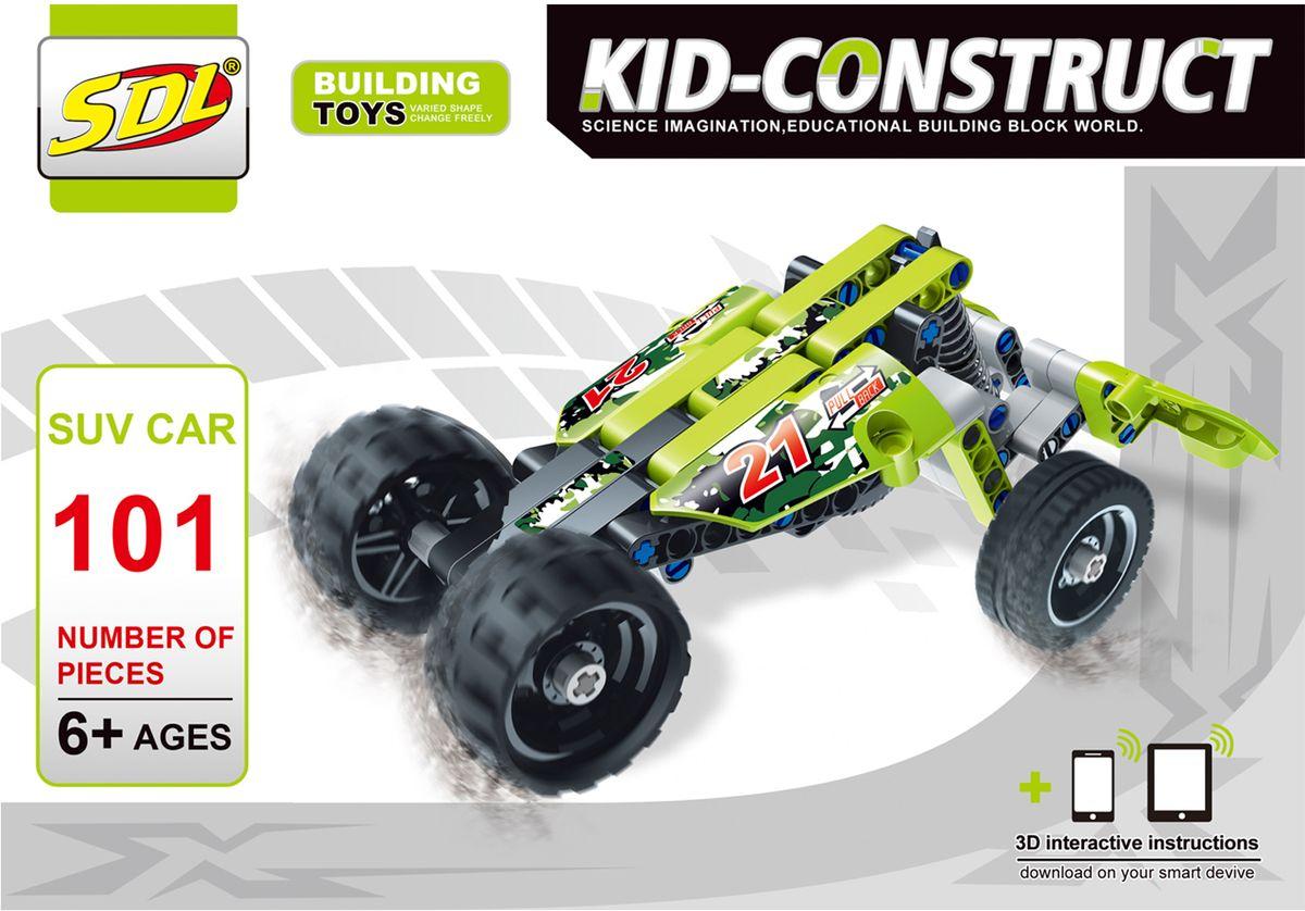 Фото SDL Пластиковый конструктор Kid-Construct Кроссовер цвет зеленый
