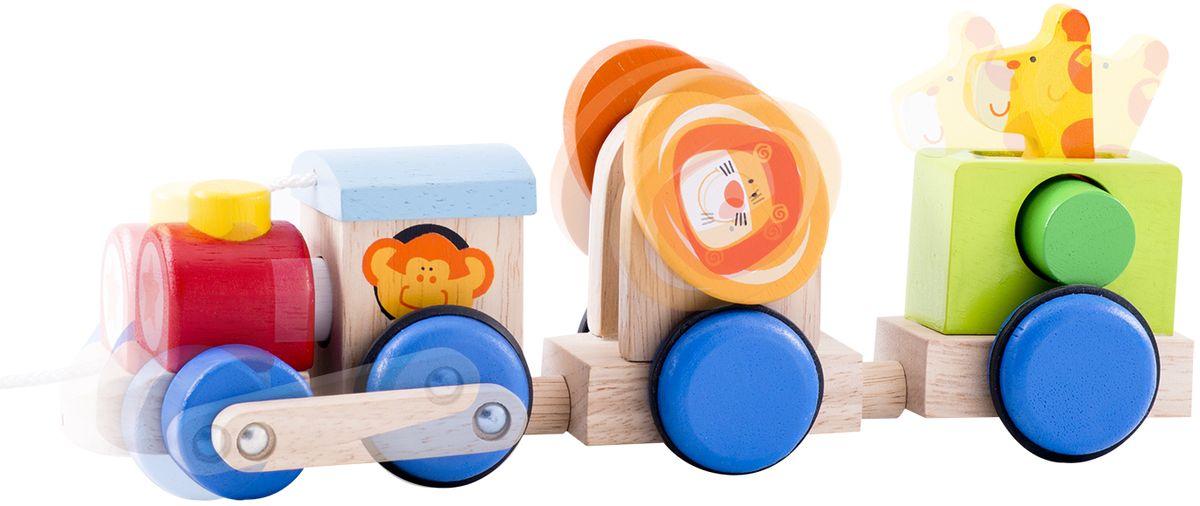 WWT Деревянный конструктор Веселый поезд Сафари конструктор деревянный toys lab цирковой поезд
