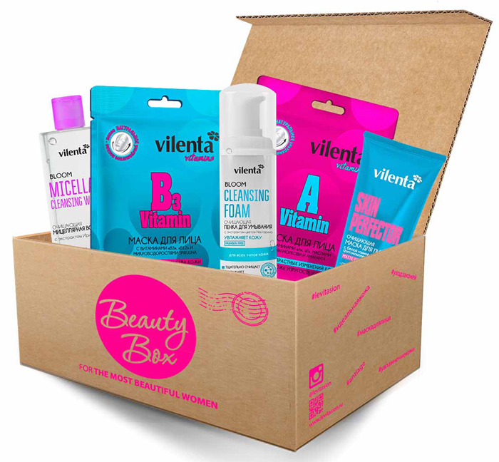 Vilenta Cleansing Beauty Box beauty box pretty woman vilenta