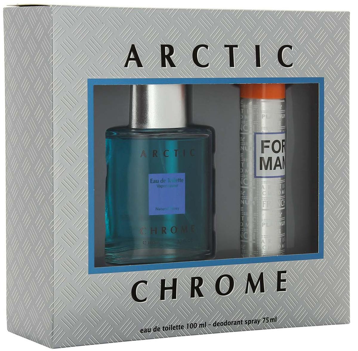 """КПК-Парфюм Подарочный набор для мужчин """"Арктик Хром"""": Туалетная вода, 100 мл + Парфюмированный дезодорант, 75 мл"""