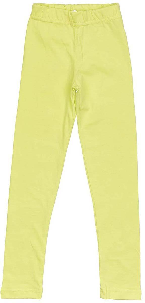 Леггинсы для девочки LeadGen, цвет: желтый. G320013406-171. Размер 104G320013406-171Леггинсы для девочки LeadGen выполнены из хлопкового эластичного трикотажа. Модель облегающего кроя с эластичной резинкой на талии.