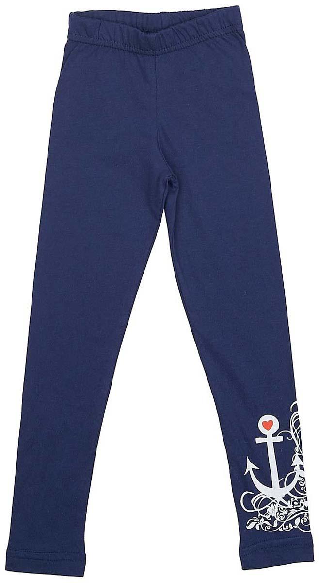 Фото Леггинсы для девочки LeadGen, цвет: синий. G420013203-171. Размер 110