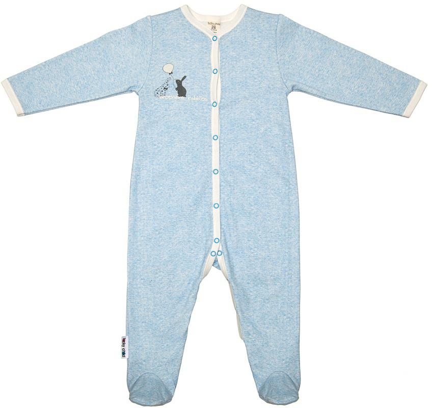 Комбинезон домашний детский Luky Child, цвет: голубой. А1-101/голубой. Размер 68/74А1-101/голубойДетский комбинезон Lucky Child - очень удобный и практичный вид одежды для малышей. Комбинезон выполнен из натурального хлопка, благодаря чему он необычайно мягкий и приятный на ощупь, не раздражают нежную кожу ребенка и хорошо вентилируются, а эластичные швы приятны телу малыша и не препятствуют его движениям. Комбинезон с длинными рукавами и закрытыми ножками имеет застежки-кнопки от горловины до щиколоток, которые помогают легко переодеть младенца или сменить подгузник. С детским комбинезоном Lucky Child спинка и ножки вашего малыша всегда будут в тепле, он идеален для использования днем и незаменим ночью. Комбинезон полностью соответствует особенностям жизни младенца в ранний период, не стесняя и не ограничивая его в движениях!