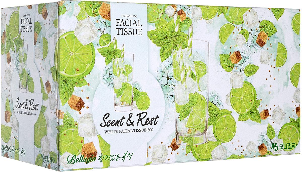 Monalisa Салфетки для лица Bellagio цвет зеленый 300 шт