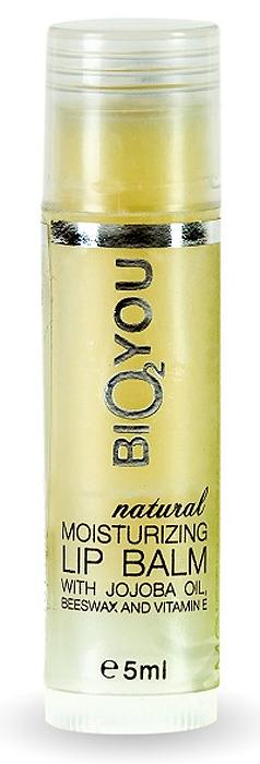 BIO2You Natural Skin Car Натуральный увлажняющий бальзам для губ с маслом ши, пчелиным воском и витамином Е, 5 мл